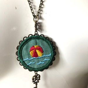 Gina Burns Jewelry - Girl Scout Beach Badge Necklace NWT